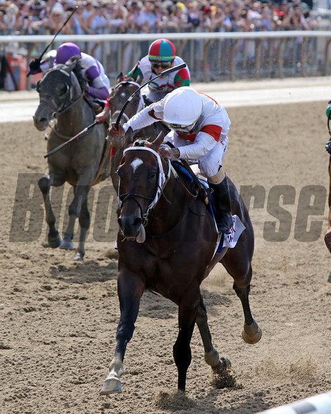 Mitole with Ricardo Santana Jr. win the 126th Running of the Metropolitan (GI) at Belmont Park on June 8, 2019. Photo By: Chad B. Harmon