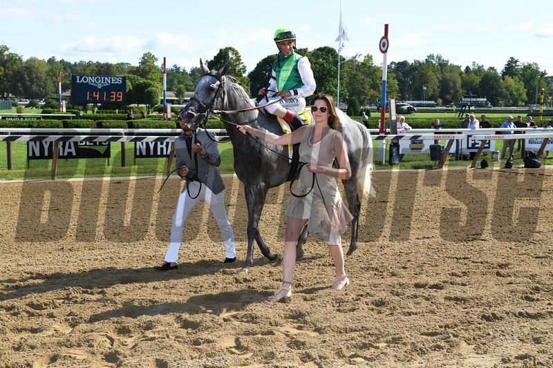 Significant Form wins the 2019 Ballston Spa Stakes at Saratoga. Photo: Coglianese Photos