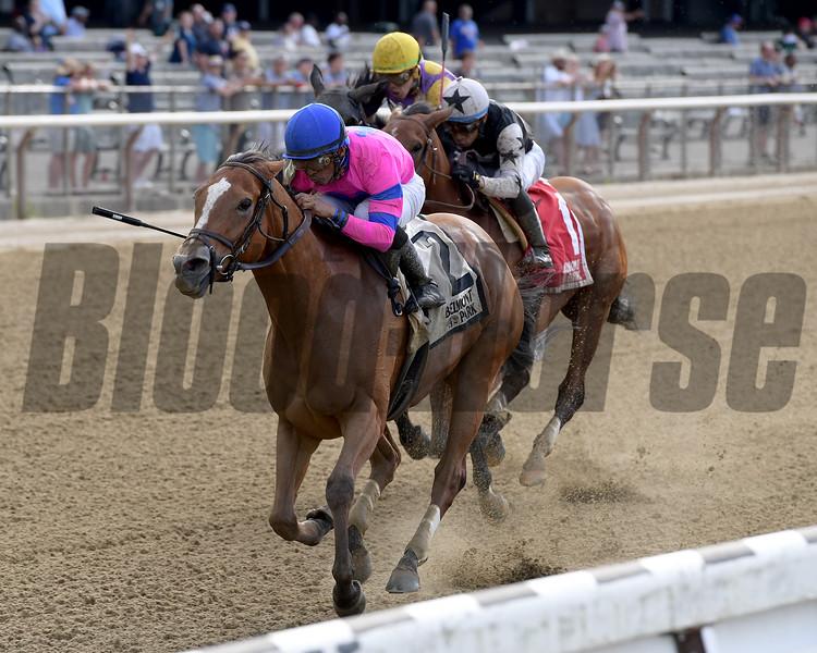 Holiday Disguise wins the 2019 Dancin Renee Stakes at Belmont Park<br /> Coglianese Photos/Joe Labozzetta