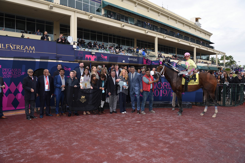 World of Trouble wins the 2019 off the turf Gulfstream Park Turf <br /> Coglianese Photos