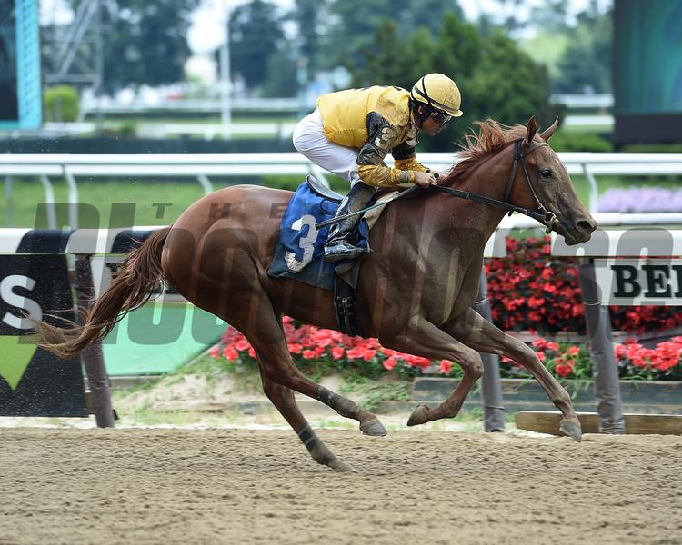 Miss Peppina - Maiden Win, Belmont Park, July 3, 2019<br /> Coglianese Photos/Chelsea Durand