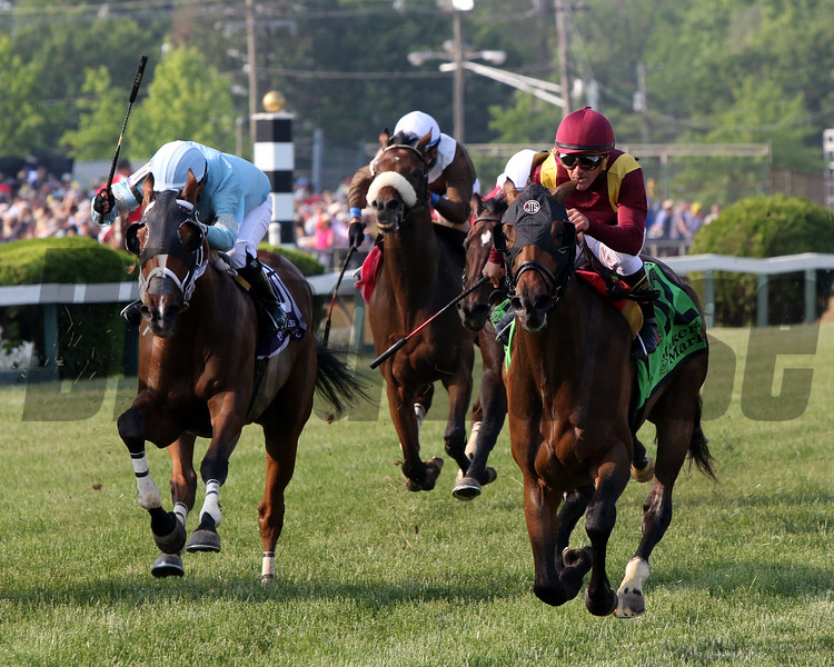 Catholic Boy with Javier Castellano win the 118th Running of the Dixie Stakes (GII) at Pimlico on May 18, 2019. Photo By: Chad B. Harmon