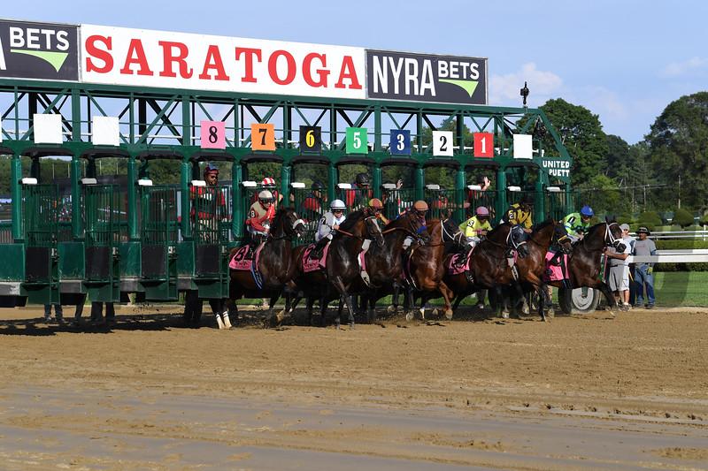 McKinzie wins the 2019 Whitney Stakes at Saratoga. Photo: Coglianese Photos/Susie Raisher