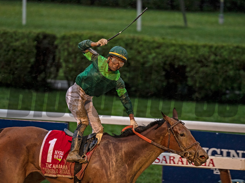 Dunbar Road with Jose L Ortiz wins The Alabama  @ Saratoga Race Course   in Saratoga NY. Aug 17 2019; <br /> Joe DiOrio Photo