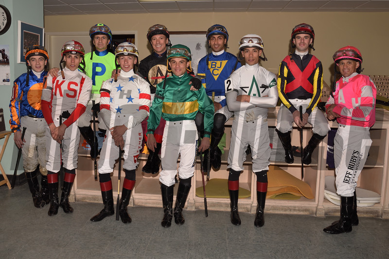 2019 Pegasus World Cup Turf Invitational Jockeys<br /> Coglianese Photos/Leslie Martin