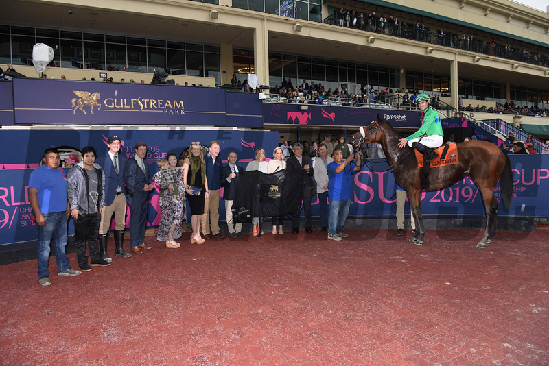 Si Que Es Buena wins the 2018 Via Borghese Stakes at Gulfstream Park<br /> Coglianese Photos
