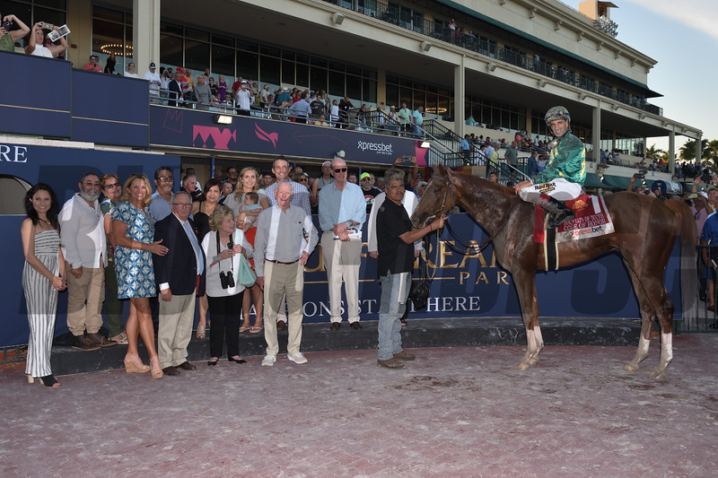 Code of Honor wins the 2019 Fountain of Youth Stakes at Gulfstream Park<br /> Coglianese Photos