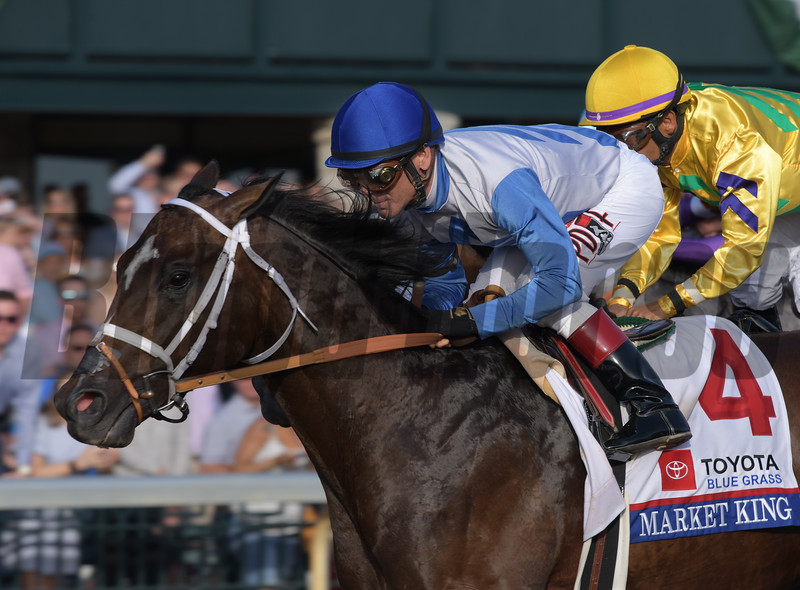 Market King with Jon Court first time by in Blue Grass.