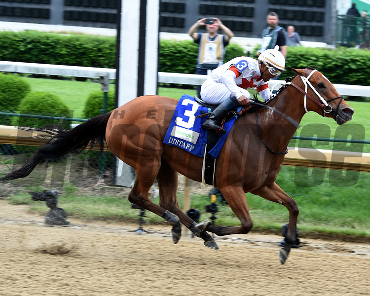 Mia Mischief with Ricardo Santana Jr. wins the Humana Distaff (G1) at Churchill Downs during Derby week 2019  May 4, 2019 in Louisville,  Ky.<br /> Dave Harmon Photo