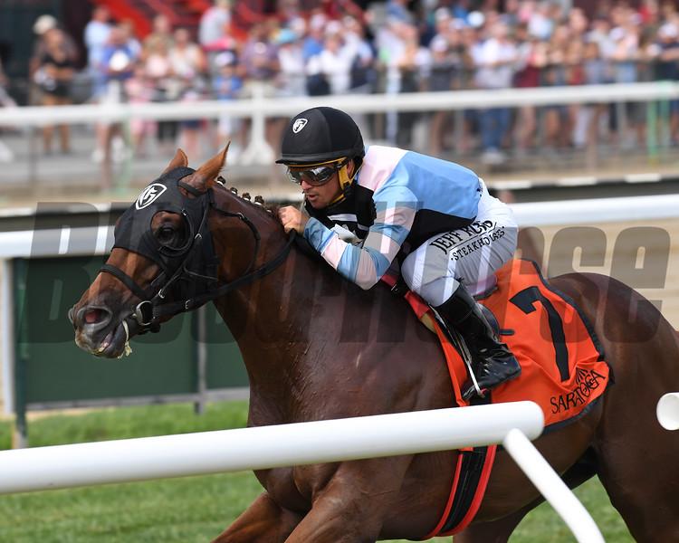 Archidust wins the 2019 Mahony Stakes at Saratoga. Photo: Coglianese Photos/Chelsea Durand