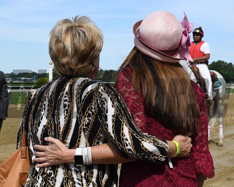 Hog Creek Hustle wins 2019 Woody Stephens at Belmont Park. Photo: Coglianese Photos/Susie Raisher