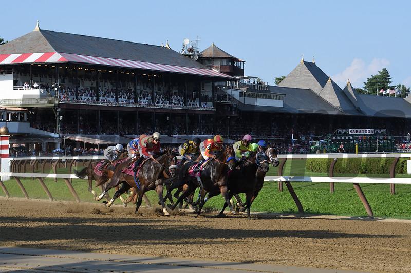 McKinzie wins the 2019 Whitney Stakes at Saratoga. Photo: Coglianese Photos/Amira Chichakly
