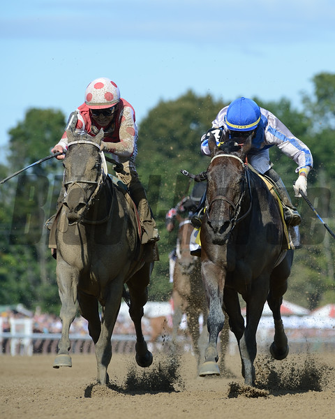 Midnight Bisou wins 2019 Personal Ensign at Saratoga. Photo: Coglianese Photos