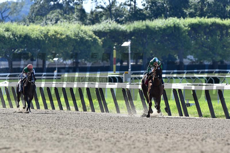 Mr. Buff wins the Saginaw Stakes Sunday, June 30, 2019 at Belmont Park. Photo: Coglianese Photos
