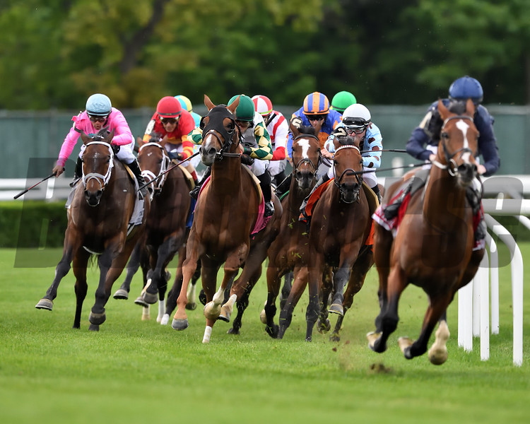 Channel Maker wins the Man o' War Stakes Saturday, May 11, 2019 at Belmont Park. Photo: Coglianese Photos/Robert Mauhar