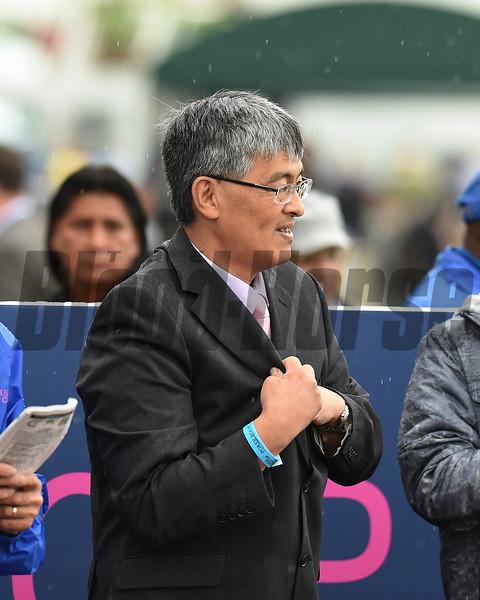 Si Que Es Buena wins the 2018 Via Borghese Stakes at Gulfstream Park - Takaya Shimakawa<br /> Coglianese Photos/Lauren KIng