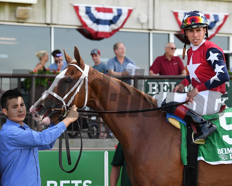Kid is Frosty wins the New York Stallion Stakes Sunday, June 23, 2019 at Belmont Park. Photo: Coglianese Photos/Susie Raisher