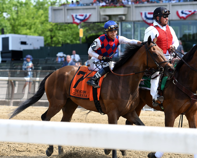 Guarana wins the 2019 Acorn Stakes at  Belmont Park<br /> Coglianese Photos/Annette Jasko