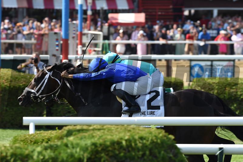 Lucullan wins the 2019 Lure Stakes at Saratoga. Photo: Coglianese Photos/Adam Mooshian