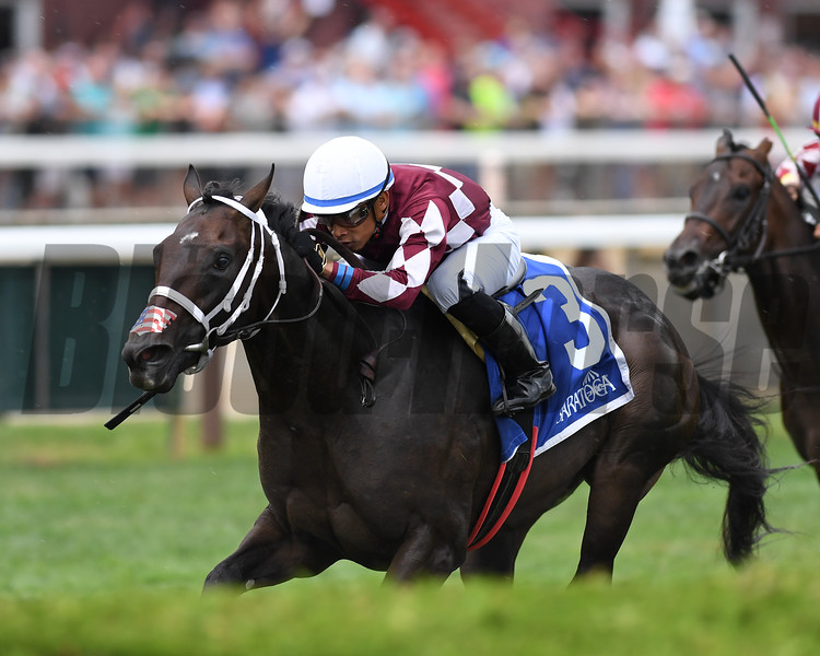 Another Miracle wins the 2019 Skidmore Stakes at Saratoga<br /> Coglianese Photos/Chelsea Durand
