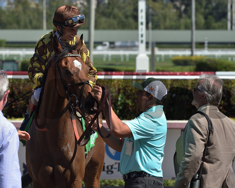 Krampus wins the 2019 Canadian Turf Stakes at Gulfstream Park<br /> Coglianese Photos/Lauren King