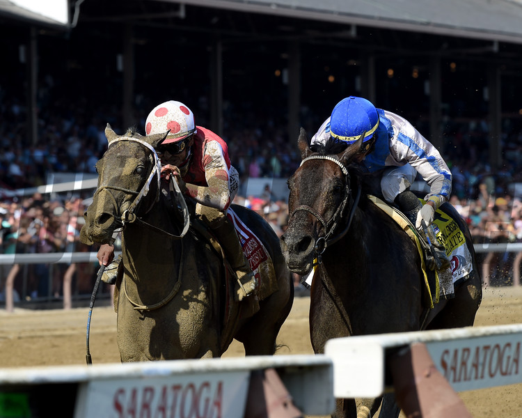 Midnight Bisou wins the 2019 Personal Ensign Stakes at Saratoga<br /> Coglianese Photos/Adam Mooshian