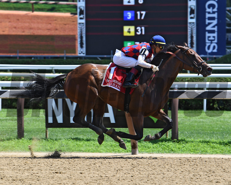 Guarana wins 2019 Coaching Club American Oaks at Saratoga. Photo: Coglianese Photos/Susie Raisher