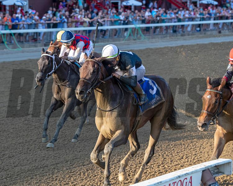 Perfect Alibi wins the 2019 Adirondack Stakes at Saratoga. Photo: Coglianese Photos/Chelsea Durand