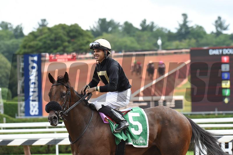 My Italian Rabbi wins the 2019 Stillwater Stakes at Saratoga<br /> Coglianese Photos/Elsa Lorieul