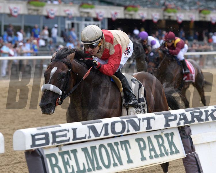 Preservationist wins the Suburban Stakes Saturday, July 6, 2019 at Belmont Park. Photo: Coglianese Photos/Joe Labozzetta