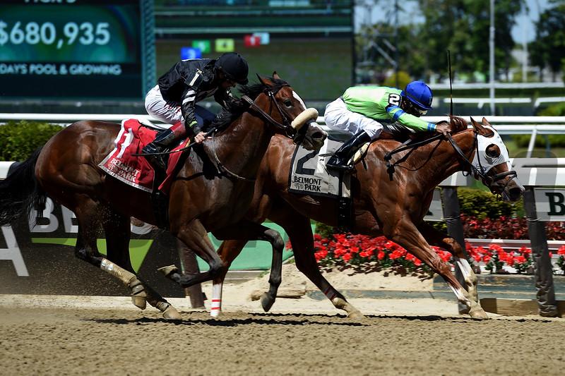 Heavenhasmynikki wins the 2019 Vagrancy Stakes at Belmont Park<br /> Coglianese Photos/Elsa Lorieul