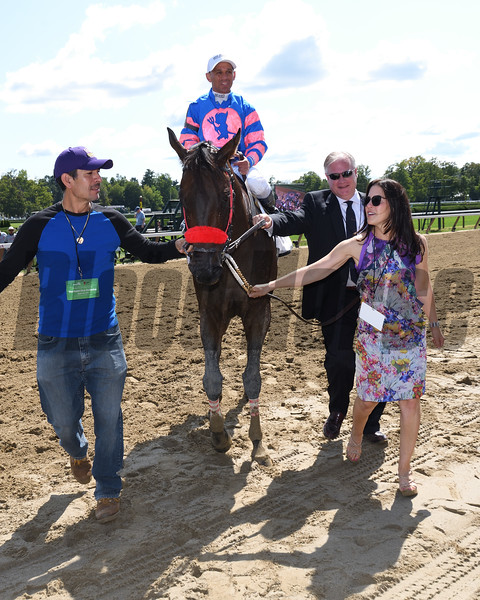 Come Dancing wins the 2019 Ballerina Stakes at Saratoga. Photo: Coglianese Photos