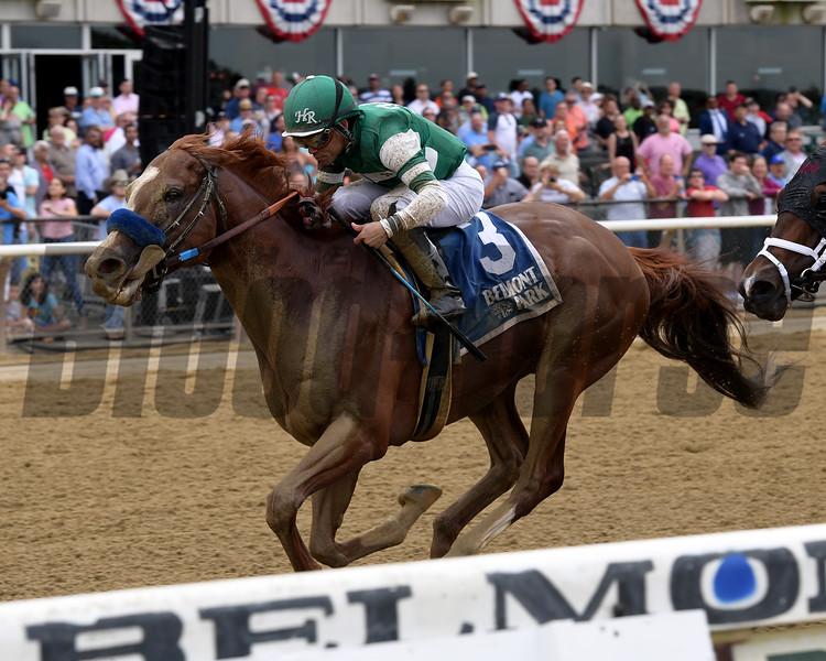 Catalina Cruiser wins the 2019 True North Stakes at Belmont Park<br /> Coglianese Photos/Joe Labozzetta