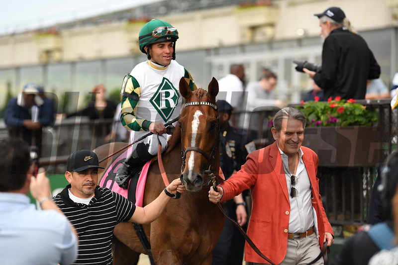 Channel Maker wins the Man o' War Stakes Saturday, May 11, 2019 at Belmont Park. Photo: Coglianese Photos/Susie Raisher