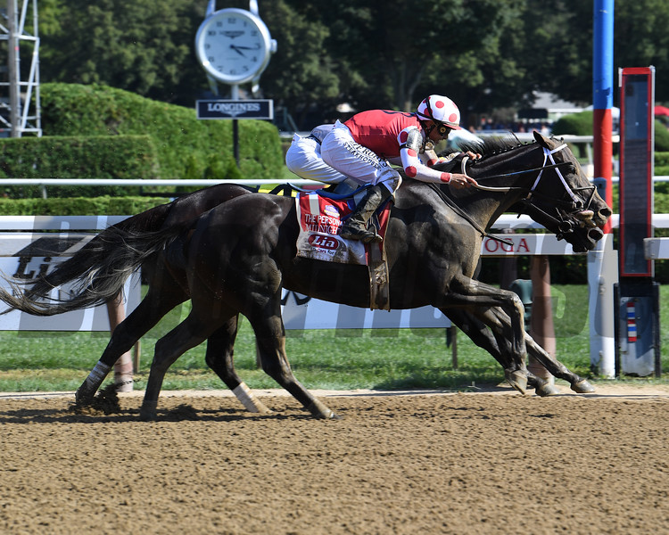 Midnight Bisou wins the 2019 Personal Ensign Stakes at Saratoga<br /> Coglianese Photos/Susie Raisher