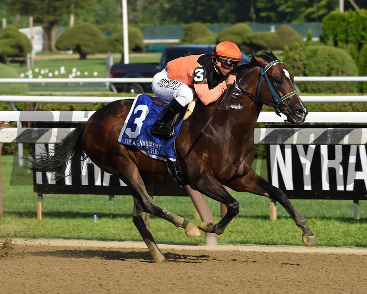 Imperial Hint wins the Alfred G. Vanderbilt Handicap Saturday, July 27, 2019 at Saratoga. Photo: Coglianese Photos