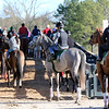 Horses waiting to get on the track to train at Oaklawn Park on March 16, 2019. Photo By: Chad B. Harmon