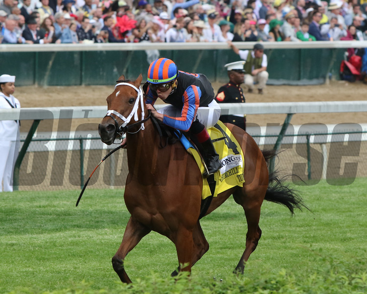 Beau Recall with Irad Ortiz win the 34th Running of the Churchill Distaff Turf Mile (GII) at Churchill Downs on May 4, 2019. Photo By: Chad B. Harmon