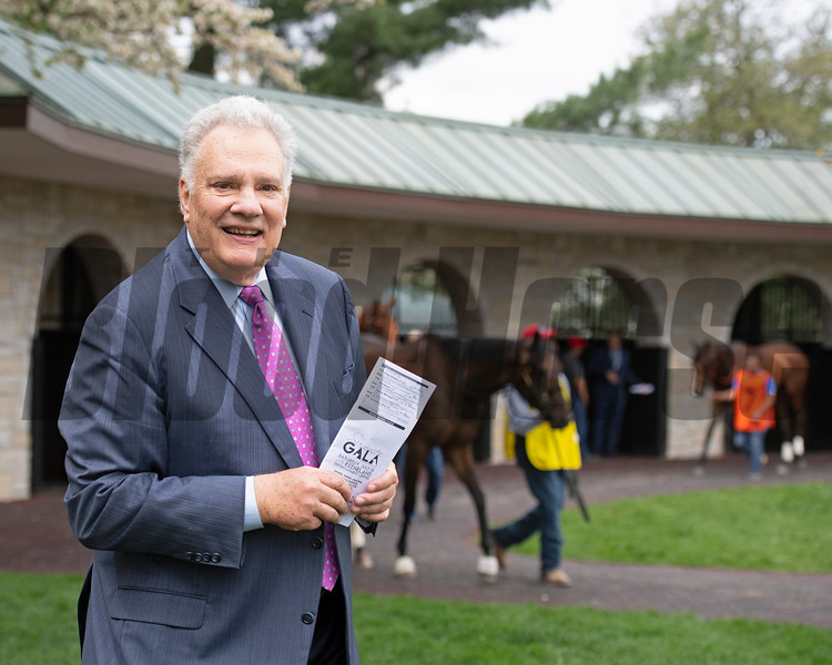 Tom Hammond in the saddling area at Keeneland on April 12, 2019 in Lexington,  Ky.