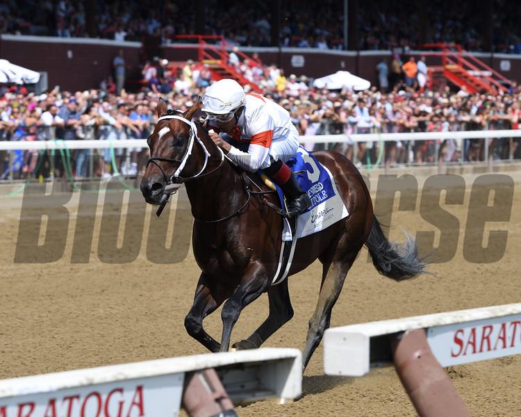 Mitole wins the 2019 Forego Stakes at Saratoga<br /> Coglianese Photos/Joe Labozzetta