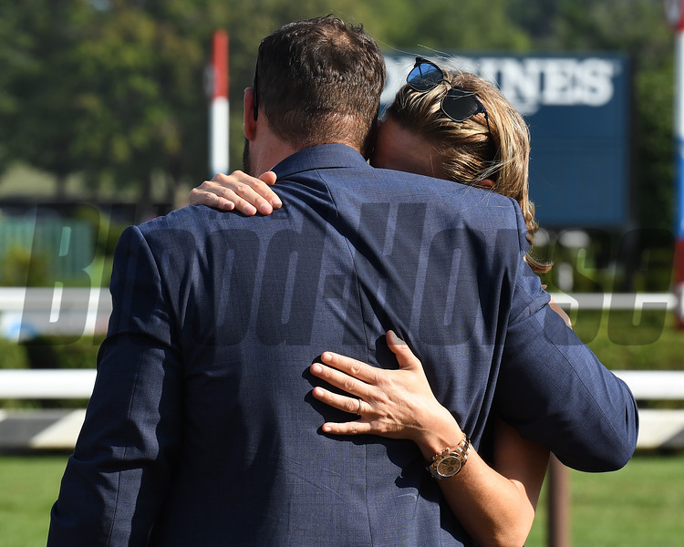 Covfefe wins the 2019  Longines Test Stakes at Saratoga<br /> Jamie Roth, Brad Cox<br /> Coglianese Photos/Susie Raisher