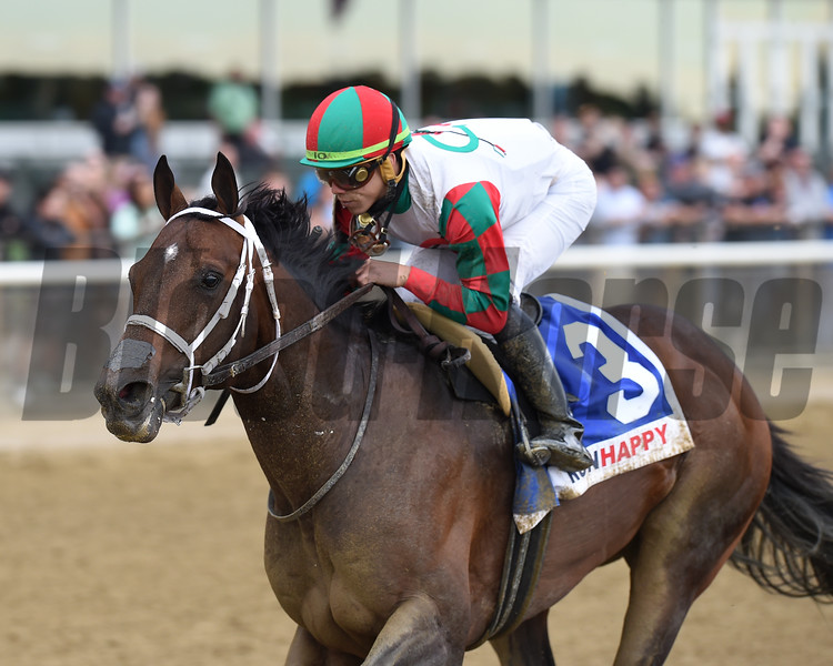 Firenze Fire wins the 2019 Runhappy Stakes at Belmont Park<br /> Coglianese Photos/Chelsea Durand