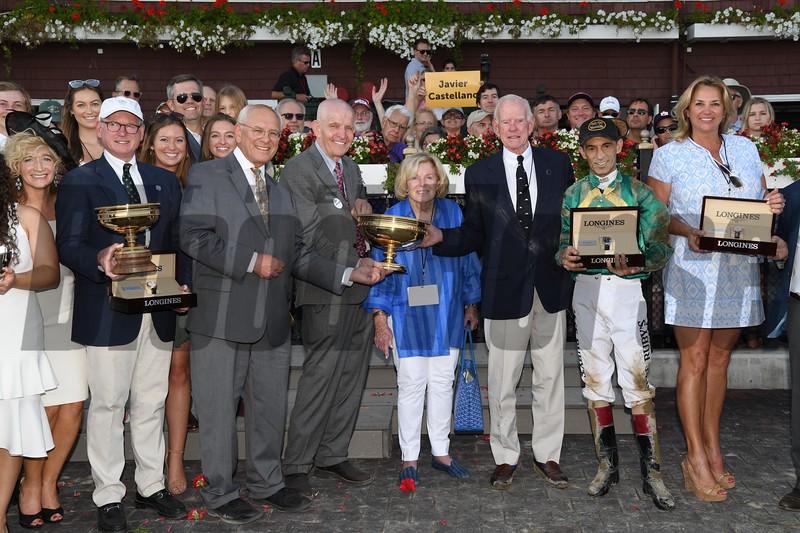 Code of Honor wins 2019 Travers Stakes at Saratoga. Photo: Coglianese Photos