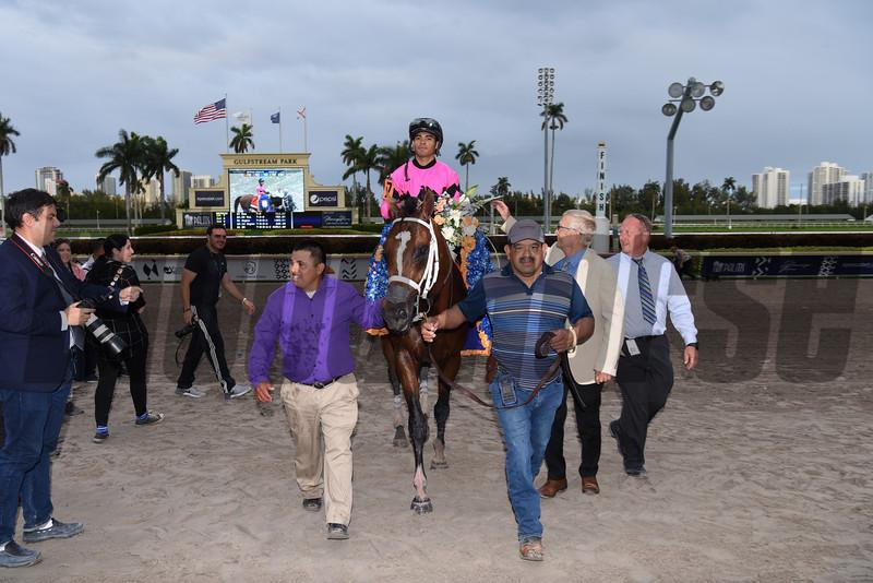 Maximum Security wins 2019 Florida Derby at Gulfstream Park. Photo: Coglianese Photos