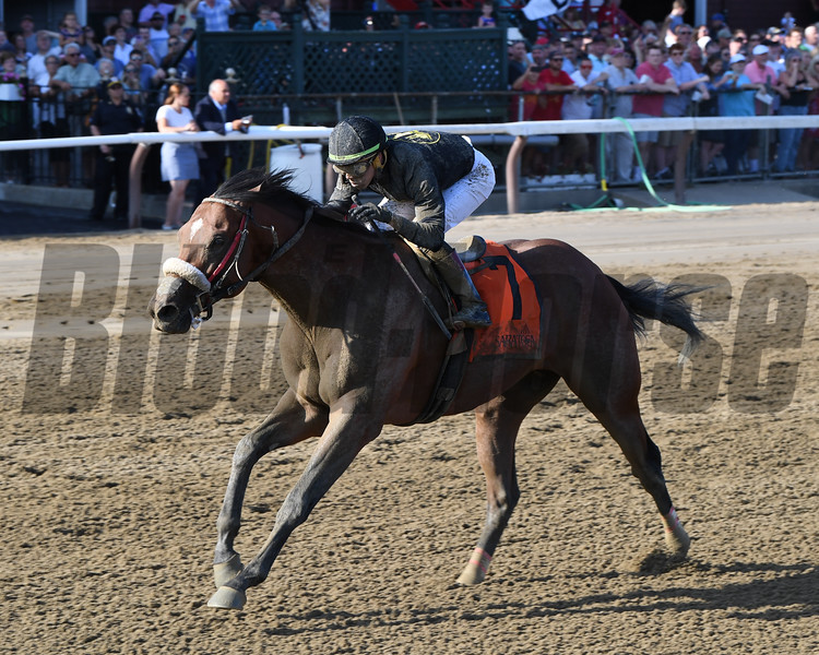 Bon Raison wins the 2019 Tale of the Cat Stakes at Saratoga<br /> Coglianese Photos/Chelsea Durand
