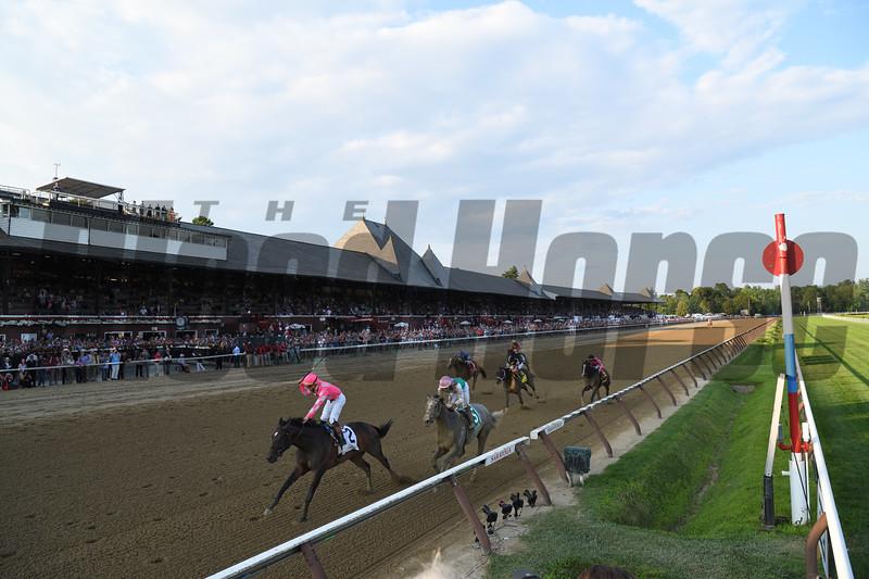 Tax wins the Jim Dandy Stakes Saturday, July 27, 2019 at Saratoga. Photo: Coglianese Photos/Meredith Chrimes