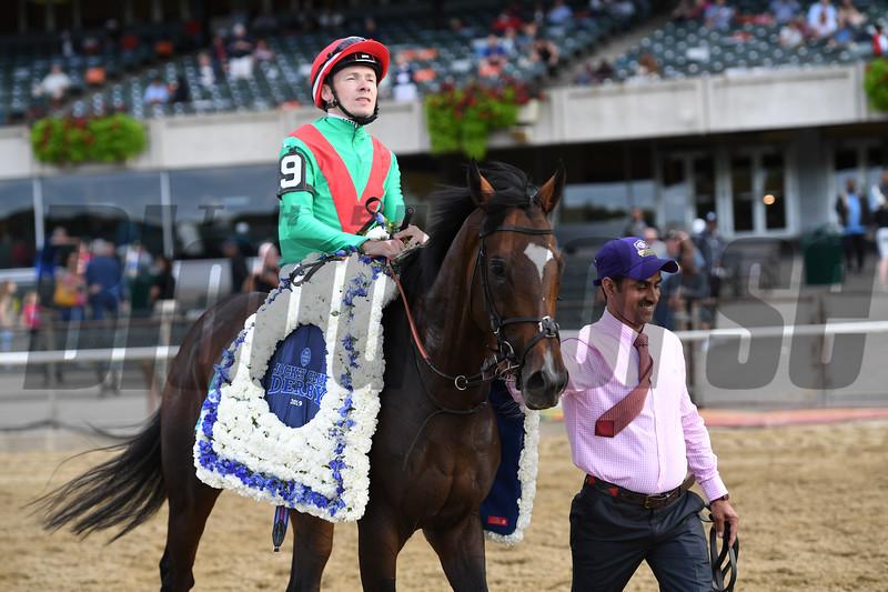 Spanish Mission wins the 2019 Jockey Club Derby Invitational <br /> Coglianese Photos/Joe Labozzetta