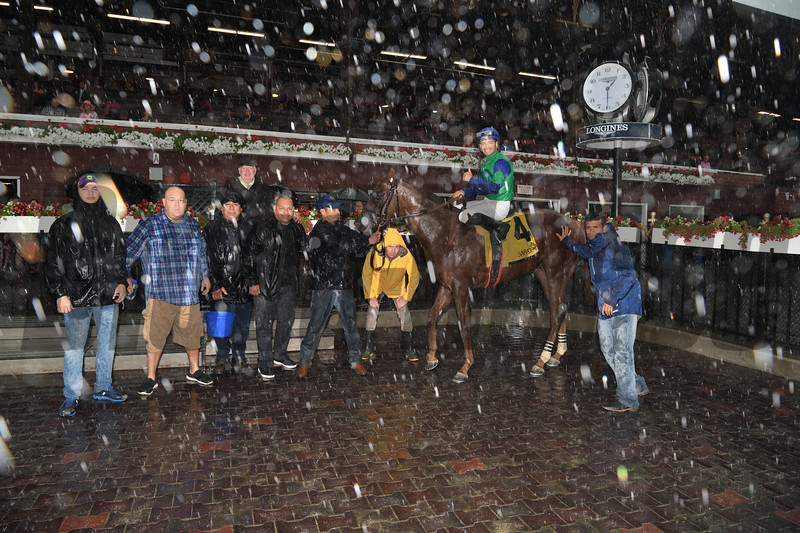 Sky of Hook wins the 2019 Rick Violette Stakes   <br /> Coglianese Photos