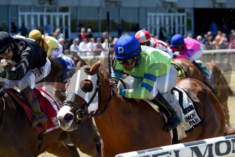 Heavenhasmynikki wins the 2019 Vagrancy Stakes at Belmont Park<br /> Coglianese Photos/Chelsea Durand