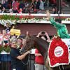 Code of Honor wins 2019 Travers Stakes at Saratoga. Photo: Coglianese Photos/Susie Raisher